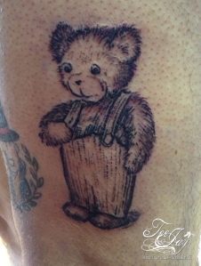 Corduroy the Bear tattoo outline