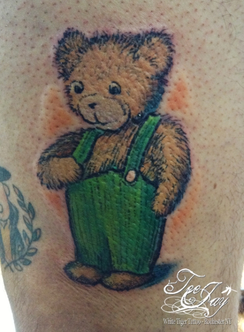 Cordoroy the Bear tattoo in Color