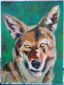 coyote painting in progress