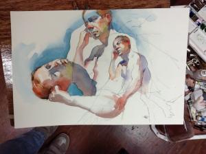 figure watercolor