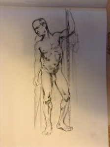 figure drawing standing male