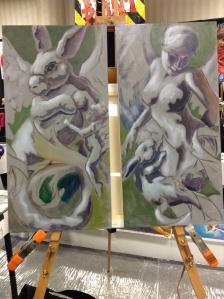 wip oil painting