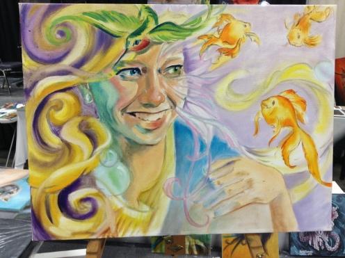 wip oil painting Delirium