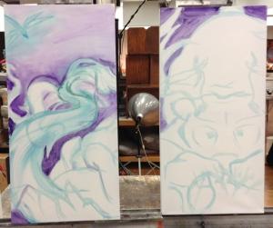 teejay paintings in progress