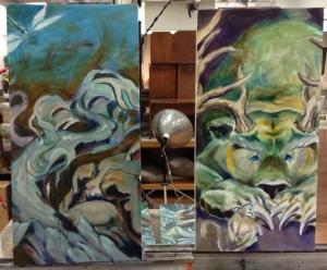 teejay oil paintings in progress