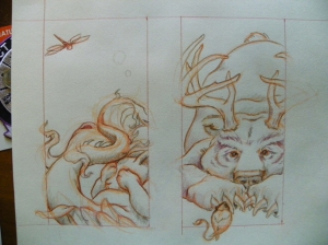 bear and bunny sketch