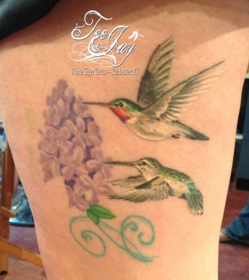 Healed Hummingbird Tattoo