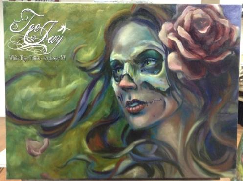 Gypsy Skull Painting