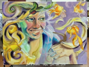 delirium painting in progress