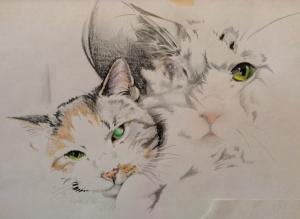 kitty tattoo drawing