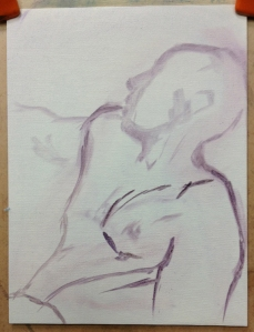 life painting male