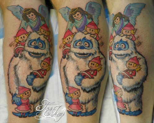 abominable snowman (bumble) tattoo