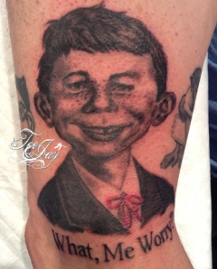 Alfred E Neuman tattoo