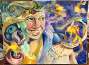Delirium painting work in progress