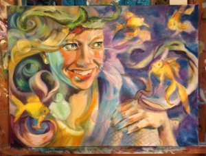Delirium painting work in progress