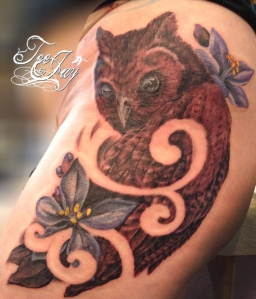 Jamican Eared Owl tattoo