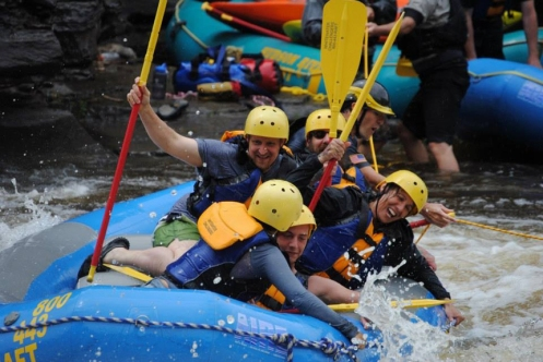 white water rafting on Black River