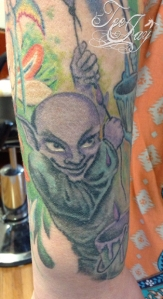 Rainbow Goblin tattoo