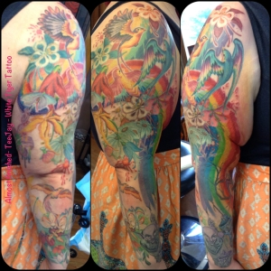 Rainbow Goblin tattoo sleeve