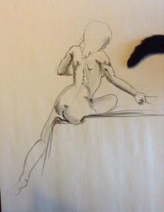figure drawing female back