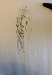 female figure drawing standing