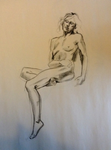 figure drawing female seated
