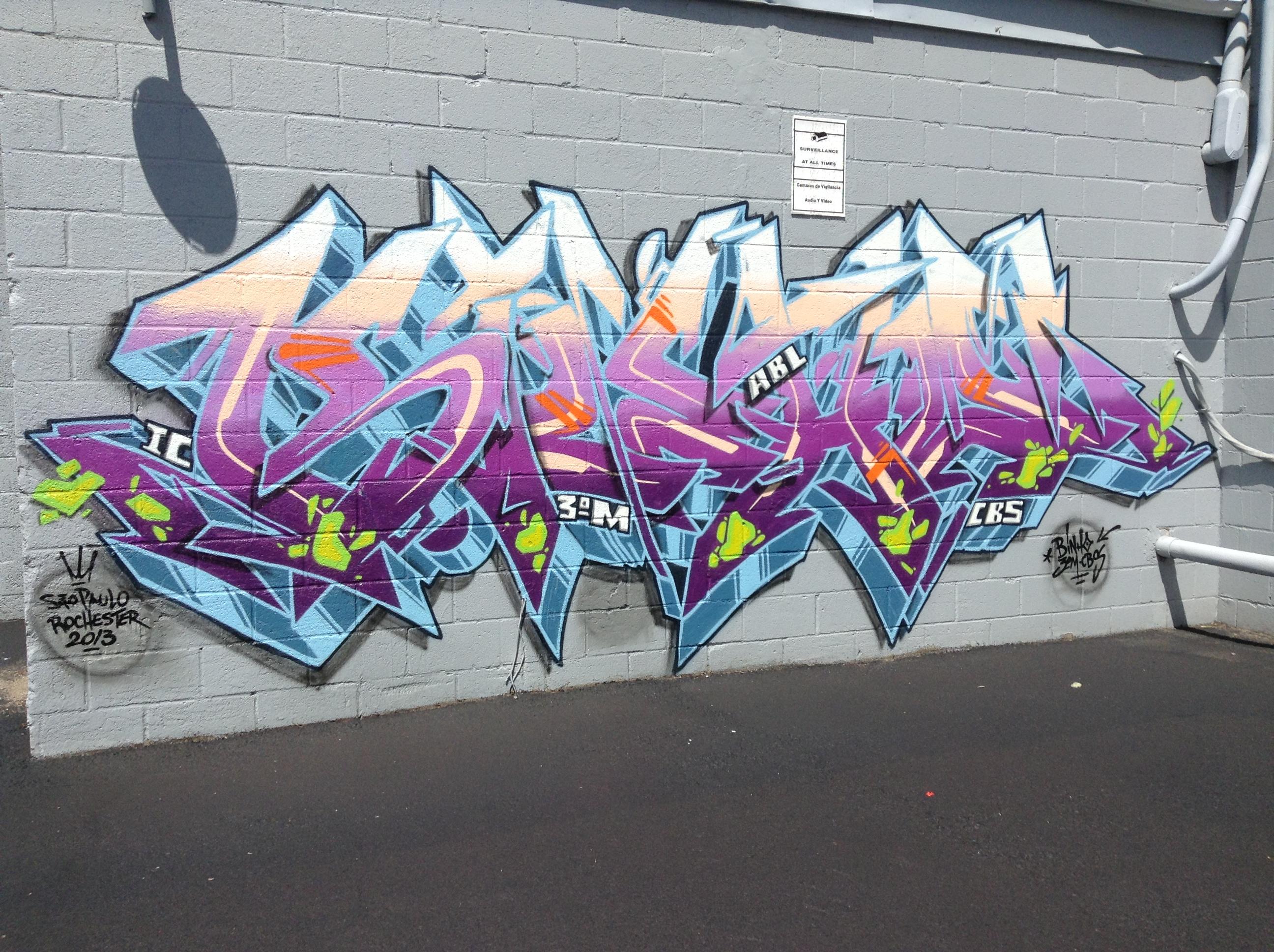 Trust No One Word Graffiti
