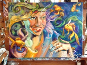 Delirium painting in progress