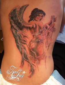 Royo tattoo first session