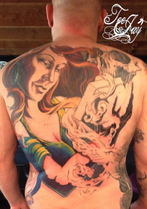 Frank's Pandora tattoo
