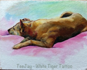 hady oil painting dog portrait