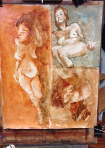figure painting at Steve Carpenter Studio