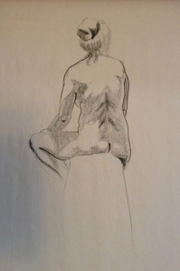 figure drawing woman back