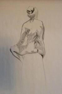 figure drawing woman back