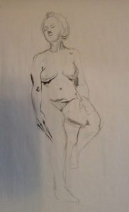 figure drawing woman standing