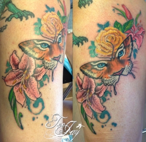 Tiger Butterfly tattoo