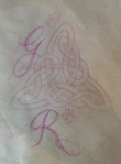 initials added to celtic knot