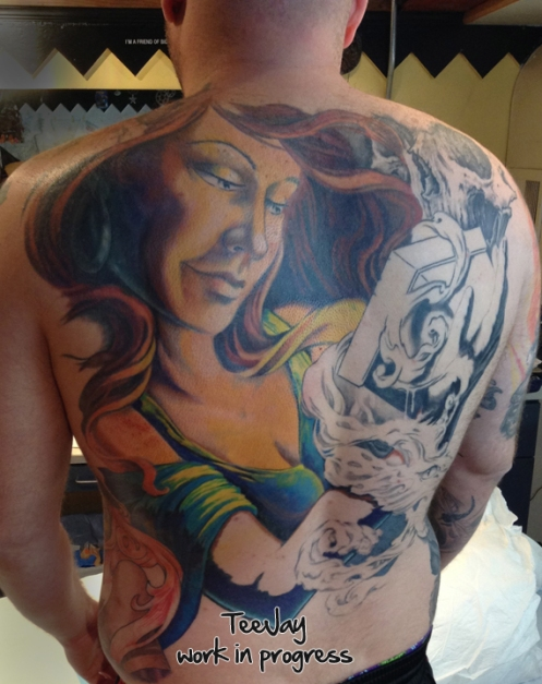 Pandora Back piece tattoo