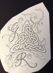 celtic knot line drawing TeeJay