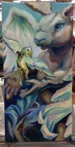 flying lessons painting in progress