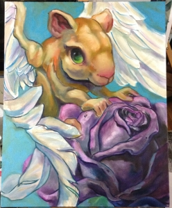 Flying Rodent with Rose