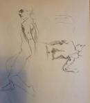figure drawing male sitting