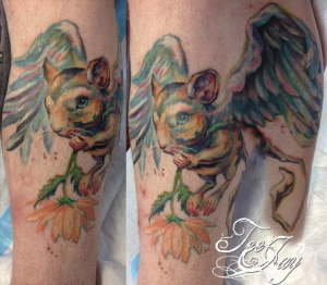 flying rodent tattoo
