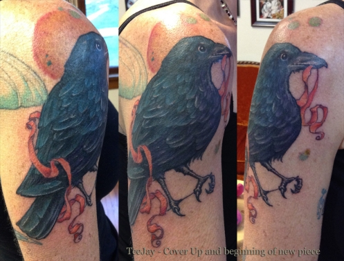 cover up crow tattoo