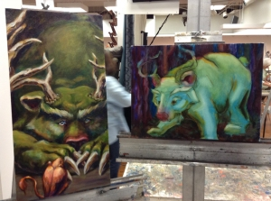 bear paintings in progress