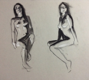figure drawing under light