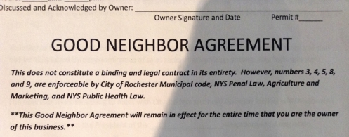 Good Neighbor Agreement