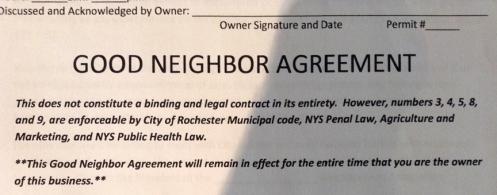 Good Neighbor Agreement