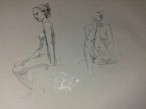 figure drawing pencil