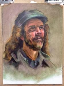 oil portrait underpainting